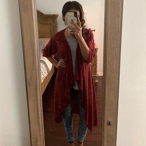 LuLaRoe Long Sweater red Fall season